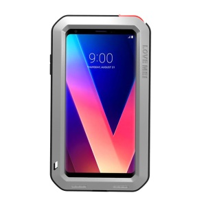 LOVE MEI Shockproof Drop-proof Dust-proof Metal Protector Case for LG V30 - Silver