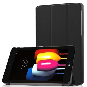 Tri-fold Leather Case with Stand for LG G Pad IV 8.0 FHD - Black