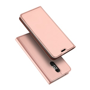 DUX DUCIS Skin Pro Series Leather Stand Cover for LG K10 (2018) - Rose Gold