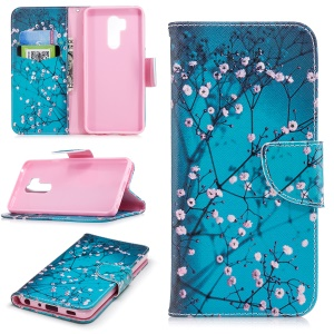 Pattern Printing PU Leather Wallet Stand Protective Shell for LG G7 ThinQ - Wintersweet