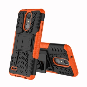 Cool Tyre Kickstand PC + TPU Hybrid Mobile Case for LG Aristo 2 - Orange