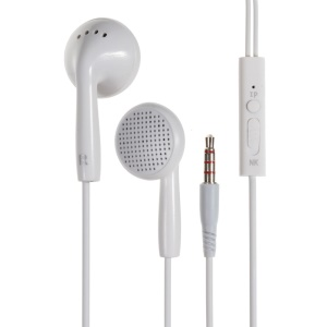 LANGSTON IN2 Universal In-ear Earphone with Mic for iPhone Samsung HTC Nokia Huawei - White