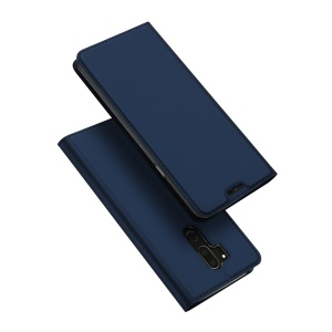 DUX DUCIS Skin Pro Series Flip Leather Stand Phone Shell for LG G7 ThinQ - Dark Blue