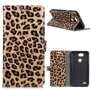 Leopard Texture Stand Wallet Leather Case for LG X Power3