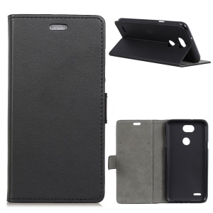 Wallet Stand Leather Protection Phone Cover for LG X Power3 - Black