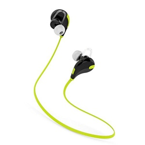 QCY QY7 Sport Sweatproof Wireless Bluetooth 4.0 Stereo Earphone - Green