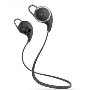 QCY QY8 Sports Wireless Bluetooth 4.1 Strereo Noise Cancelling Headphone - Black