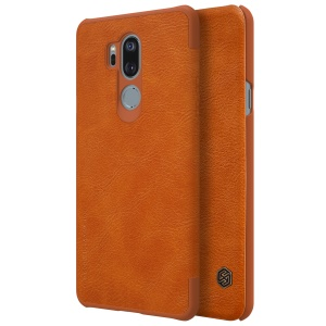NILLKIN Qin Series for LG G7 ThinQ PU Leather Card Hodler Phone Casing - Brown