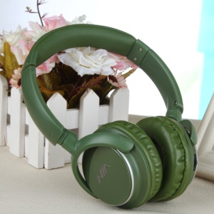 NIA Q1 Over-ear Bluetooth Headphone with Mic Support Micro SD Player / FM Radio / Aux-input - Green