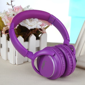NIA Q1 Over-ear Bluetooth Headphone with Mic Support Micro SD Player / FM Radio / Aux-input - Purple