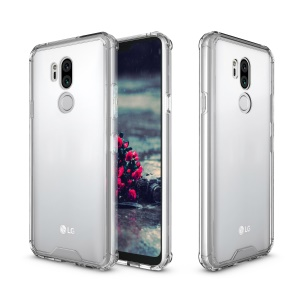 Armor Transparent Acrylic + TPU Hybrid Phone Cover for LG G7 ThinQ - Silver