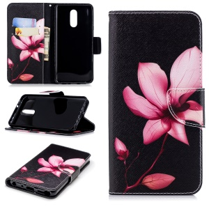 Pink Flower - For LG Q Stylus / Stylo 4 Pattern Printing Leather Wallet Stand Case Cover