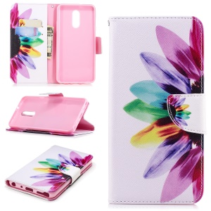 Half Sunflower - For LG Stylo 4/Q Stylus Pattern Printing PU Leather Wallet Stand Phone Case