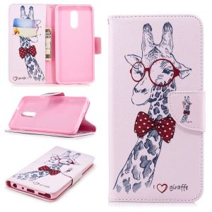 Giraffe - For LG Stylo 4/Q Stylus Pattern Printing PU Leather Wallet Stand Phone Case