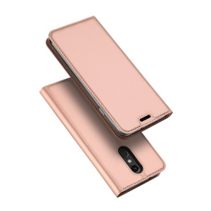 DUX DUCIS Skin Pro Series PU Leather Stand Case for LG Stylo 4 / Q Stylus - Rose Gold