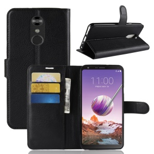 Litchi Texture Wallet Leather Stand Case for LG Stylo 4/Q Stylus - Black