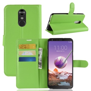 Litchi Texture Wallet Leather Stand Mobile Case for LG Stylo 4/Q Stylus - Green
