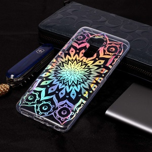 Colorful Laser Carving IMD Patterned TPU Case for LG G7 ThinQ - Unique Flower
