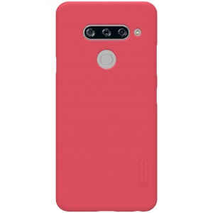 NILLKIN Super Frosted Shield Hard Back Case for LG V40 ThinQ - Red