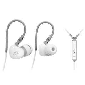MEELECTRONICS M6P Sports Waterproof Earphone for iPhone Samsung Sony etc with Mic - White