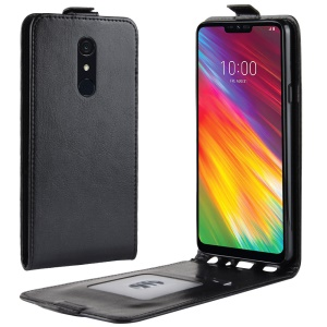 Crazy Horse Vertical Flip PU Leather Protection Case for LG G7 Fit - Black