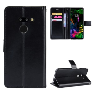 Funda Celular LG G8 Thinq Crazy Horse Billetera De Cuero - Negro