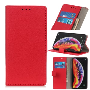 Wallet Leather Stand Case for LG V50 ThinQ 5G - Red