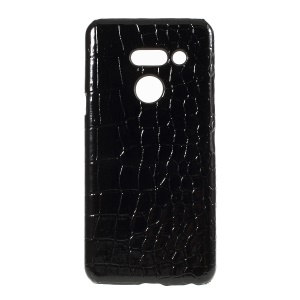 PU Leather Coated Hard PC Protector Case for LG G8 ThinQ - Crocodile Texture