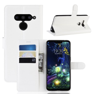 For LG V50 ThinQ 5G Litchi Skin PU Leather Wallet Mobile Phone Shell - White
