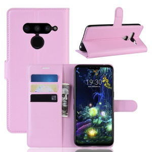 For LG V50 ThinQ 5G Litchi Skin PU Leather Wallet Mobile Phone Shell - Pink