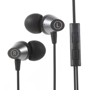 MGALL M6 In-ear Earphone Headset with Mic for iPhone Samsung - Black