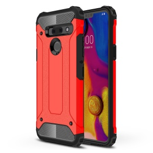 Armor Guard Plastic + TPU Hybrid Case for LG G8s ThinQ - Red