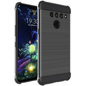 IMAK Vega Carbon Fiber Pattern Brushed TPU Mobile Cover Shell for LG V50 ThinQ 5G