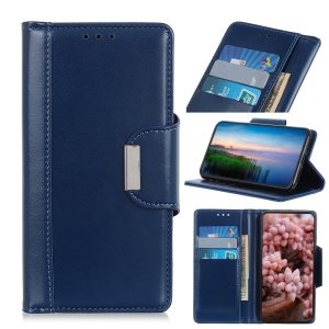 PU Leather Wallet Stand Mobile Phone Cover for LG Stylo 5 - Blue