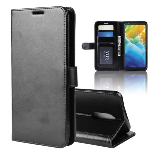 Crazy Horse Wallet Leather Stand Case for LG Stylo 5 - Black