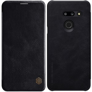 NILLKIN QIN Series Flip Leather Protective Smart Phone Case for LG G8 ThinQ - Black