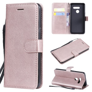 Wallet Leather Stand Case for LG G8 ThinQ - Rose Gold