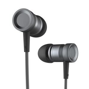 ROCK Mula Universal Stereo 3.5mm In-ear Earphone Headset with Mic for iPhone iPad Samsung - Black