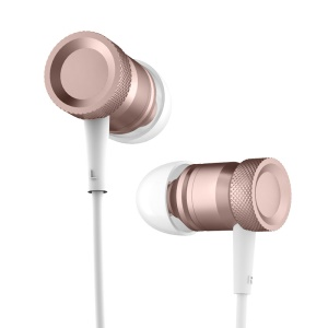 ROCK Mula Universal Stereo 3.5mm In-ear Earphone Headset with Mic for iPhone iPad Samsung - Rose Gold