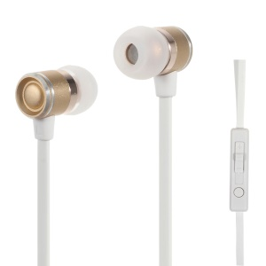 GOLF M3 JAZZ 3.5mm Handsfree Earphone with Remote Control - Gold