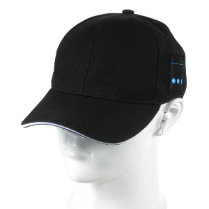 Creative Bluetooth Earphones Baseball Cap Sports Hat Sunhat 2-in-1 with Mic for iPhone Samsung - Black