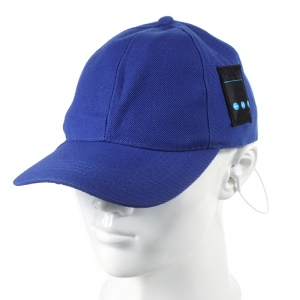 Creative Bluetooth Earphones Baseball Cap Sports Hat Sunhat 2-in-1 with Mic for iPhone Samsung - Blue