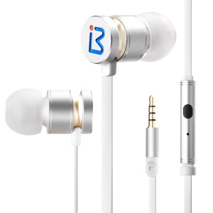 BENWIS EPM-200 Metallic Mega Bass Stereo In-ear Headphone with Remote Control for iPhone Samsung - White