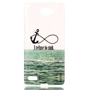 IMD TPU Skin Case Cover for LG Bello II / Prime II / Max - Anchor and I Refuse to Sink