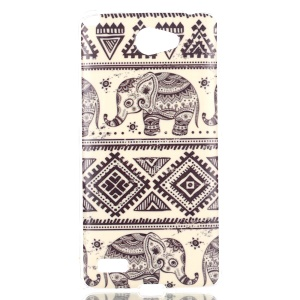 IMD Gel TPU Phone Case Protector for LG Bello II / Prime II / Max - Tribal Elephant