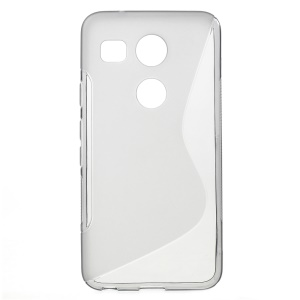 S-Shape Gel TPU Mobile Phone Cover for LG Nexus 5X - Grey