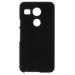 Rubberized Plastic Hard Case Shell for LG Nexus 5X - Black