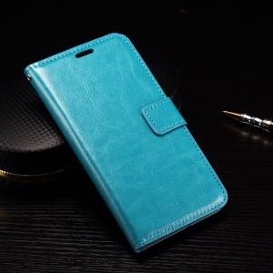 Crazy Horse Wallet Stand Leather Phone Cover for LG Nexus 5X - Blue