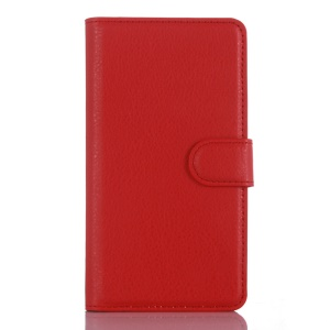 For LG Zero / Class F620 H740 Litchi Leather Flip Cover Wallet Stand Case - Red