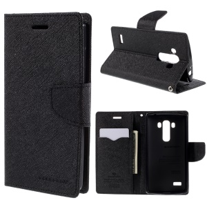 MERCURY GOOSPERY PU Leather Wallet Cover for LG G4 Beat / G4S H735 - Black